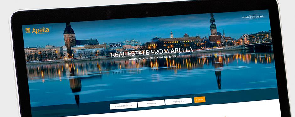 сверстать и запрограммировать сайт для компании, предоставляющей услуги по приобретению недвижимости | Сайт для Apella -  дочернего предприятия Rietumu banka