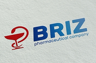to develop contemporary logo and corporate identity for pharmaceutical company maintaining consistency.            | Logo and corporate identity for pharmaceutical company BRIZ