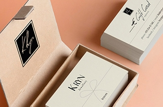 to develop layout of gift cards for jewelry shop | Gift cards for jewellery brand K Ryn