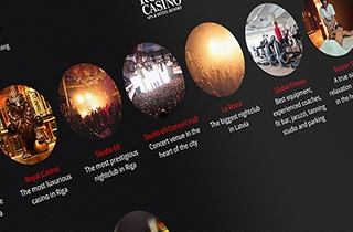 development of the web page for the largest entertainment complex in Latvia. | Royal Casino Spa & Hotel Resort website