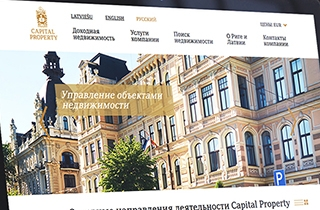 to develop web page for the company selling real estate in Latvia. | Capital property web page