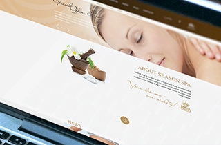 make a website and reservation system for the beauty salon. | Season Spa web page
