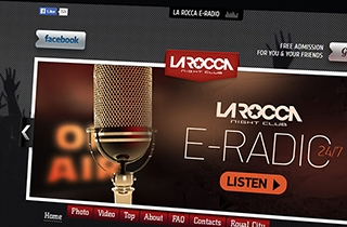 development of the web page for the most popular night club in Latvia. | Night club La Rocca-Revolution website