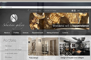 create a web page for interior designer company. | Design studio