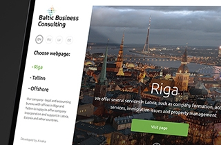 to adapt BBC Riga web page for different regions | Work for consulting services company Baltic Business Consulting Ltd.