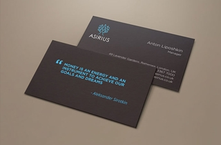 development of corporate style elements for Asirius company. | Asirius company corporate style