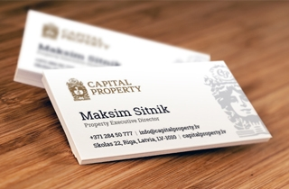 to develop two kinds of business cards and 2 kind of forms for Capital Property | Capital property identity