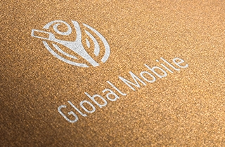 develop a logo and corporate identity for a mobile phone service provider. | Logo and corporate style for mobile network provider Global Mobile