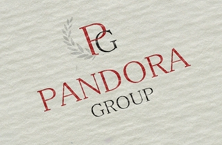 development of logo and corporate style. | Pandora Group company logo