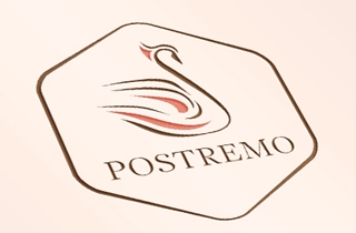 to develop logo and corporate style for wedding salon in Riga. | Logo and corporate style for wedding salon Postremo