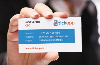 Tickapp business card design development. | Business cards for Tickapp company