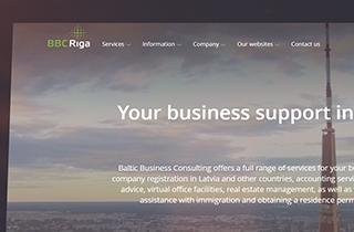 сделать новый сайт для дочерней компании в Тбилиси, а также - редизайн всех остальных сайтов компании Baltic Business Consulting | Сайты для консалтинговой компании SIA Baltic Business Consulting