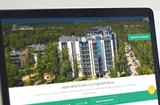 to develop a site, to make photo shooting and promo video for the company selling apartments in an apartment building in Jurmala. | Website of an apartment building in Jurmala