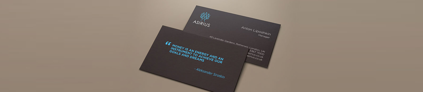 Project / Logos and styles / Asirius company corporate style